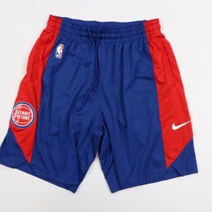Nike NBA Detroit Pistons Team Issued Shorts Blue